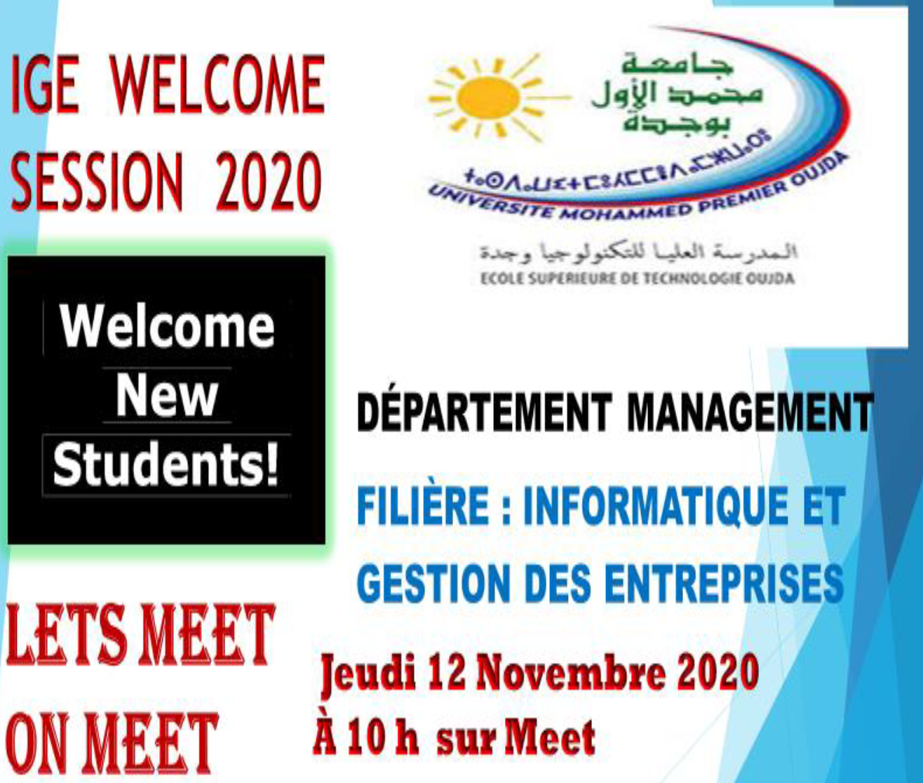 IGE WELCOM SESSION 2020